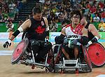 Mike Whitehead, Rio 2016 - Wheelchair Rugby // Rugby En Fauteuil roulant.<br /> Canada vs Japan in the Wheelchair Rugby bronze medal final // Le Canada contre le Japon dans la finale pour la médaille de bronze du rugby en fauteuil roulant. 18/09/2016.