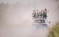 into the dust: team Wanty-Groupe Gobert<br /> <br /> 3rd Dwars Door Het hageland 2018 (BEL)<br /> 1 day race:  Aarschot > Diest: 198km