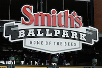 Opening Night for the Salt Lake Bees at Smith's Ballpark on April 3, 2014 in Salt Lake City, Utah.  (Stephen Smith/Four Seam Images)