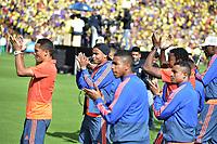 BOGOTA - COLOMBIA, 05-07-2018: Carlos BACCA, Luis MURIEL jugadores de la Selección Colombia de fútbol reciben un homenaje hoy, 05 de julio de 2018, después de su participación en la Copa Mundial de la FIFA Rusia 2018. El acto tuvo lugar een el estadio Nemesio Camacho El Campín de la ciudad de Bogotá / RCarlos BACCA Luis MURIEL players of Colombia national soccer team receives tribute today, July 5, 2018, after their participation in the FIFA World Cup Russia 2018. The event took place at Nemesio Camacho El Campin stadium in Bogota city. Photo: VizzorImage / Gabriel Aponte / Staff