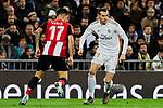 Gareth Bale of Real Madrid and Yuri Berchiche of Athletic Club during La Liga match between Real Madrid and Athletic Club de Bilbao at Santiago Bernabeu Stadium in Madrid, Spain. December 22, 2019. (ALTERPHOTOS/A. Perez Meca)