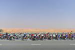 The peloton in action during Stage 4 The Municipality Stage of the Dubai Tour 2018 the Dubai Tour's 5th edition, running 172km from Skydive Dubai to Hatta Dam, Dubai, United Arab Emirates. 9th February 2018.<br /> Picture: LaPresse/Fabio Ferrari | Cyclefile<br /> <br /> <br /> All photos usage must carry mandatory copyright credit (© Cyclefile | LaPresse/Fabio Ferrari)