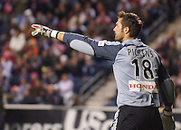 Chicago Fire goalkeeper Matt Pickens (18). The Chicago Fire defeated D. C. United 1-0 during the first leg of the MLS Eastern Conference Semifinal Series at Toyota Park in Bridgeview, IL, on October 25, 2007.