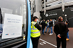 Volunteers offering a free Covid vaccine outside St James Park. Newcastle v West Ham, August 15th 2021. The first game of the season, and the first time fans were allowed into St James Park since the Coronavirus pandemic. 50,673 people watched West Ham come from behind twice to secure a 2-4 win.