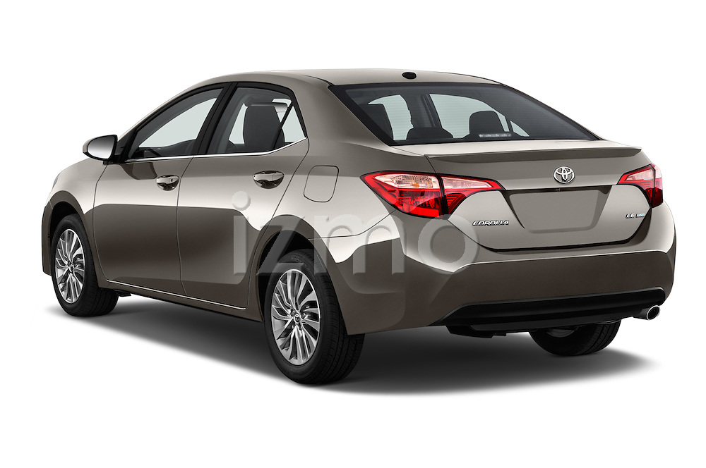 Car pictures of rear three quarter view of 2018 Toyota Corolla LE-Eco-AT 4 Door Sedan Angular Rear