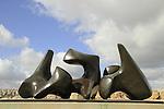 Jerusalem, Israel Museum, Three Piece Vertebrae, bronze, by Henry Moore at the Billy Roze Art Garden