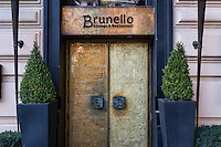 Exterior of the Brunello Lounge & Restaurant, Rome, Italy