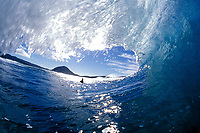 surfer in breaking wave, North shore of Oahu, Hawaii, Pacific Ocean