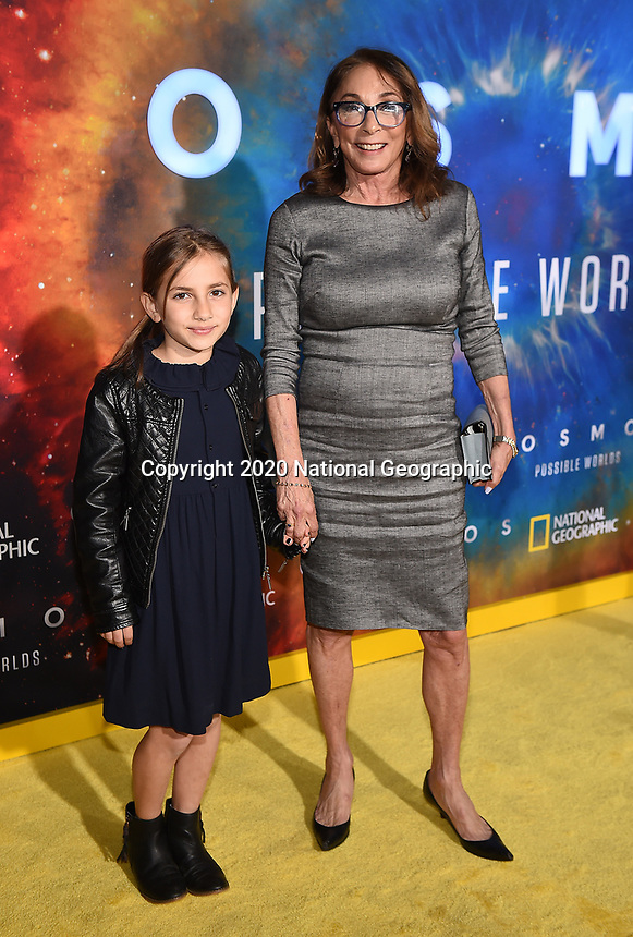 """LOS ANGELES - FEBRUARY 26:  Lynda Obst attends National Geographic's 2020 Los Angeles premiere of """"Cosmos: Possible Worlds"""" at Royce Hall on February 26, 2020 in Los Angeles, California. Cosmos: Possible Worlds premieres Monday, March 9 at 8/7c on National Geographic. (Photo by Frank Micelotta/National Geographic/PictureGroup)"""