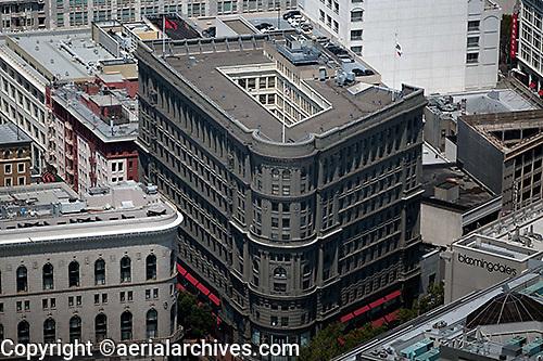aerial photograph Flood building San Francisco financial district