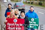 Staff of Coláiste Gleann Li on strike on Tuesday
