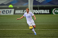 Lorient, France. - Sunday, February 8, 2015:  Lori Chalupny (16) of the USWNT. France defeated the USWNT 2-0 during an international friendly at the Stade du Moustoir.