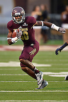 Texas State wide receiver Jafus Gaines (80) catches a pass during first half of NCAA Football game, Saturday, September 13, 2014 in San Marcos, Tex. Navy leads Texas State 28-7 at the halftime.(Mo Khursheed/TFV Media via AP Images)