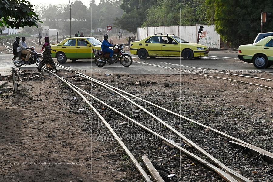 MALI, Bamako, rail track near Railway station / Bahnhof, Bahnlinie Bamako-Dakar