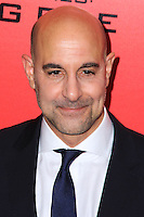 """NEW YORK, NY - NOVEMBER 20: Stanley Tucci at the New York Premiere Of Lionsgate's """"The Hunger Games: Catching Fire"""" held at AMC Lincoln Square Theater on November 20, 2013 in New York City. (Photo by Jeffery Duran/Celebrity Monitor)"""