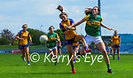 Kayleigh Cronin, Kerry in action against Rosin Considine, Clare in the Lidl Ladies National Football League Division 2A Round 2 at Austin Stack Park, Tralee on Sunday.