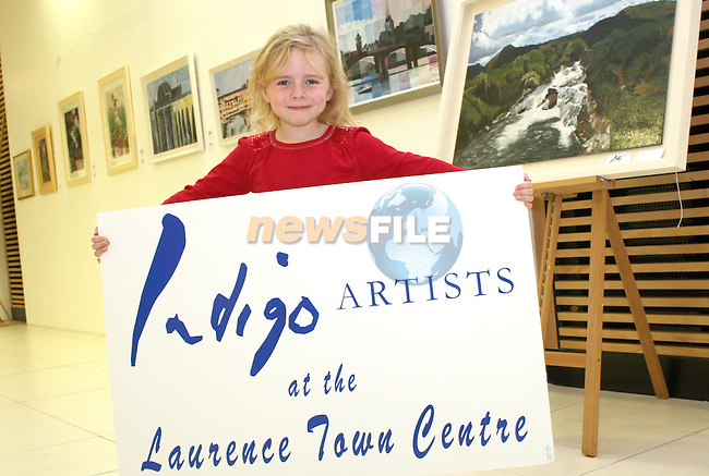 Niamh Hyland at the Opening of the Indigo Art Exhibion in the Laurence Centre...Photo NEWSFILE/Jenny Matthews.(Photo credit should read Jenny Matthews/NEWSFILE)....This Picture has been sent you under the condtions enclosed by:.Newsfile Ltd..The Studio,.Millmount Abbey,.Drogheda,.Co Meath..Ireland..Tel: +353(0)41-9871240.Fax: +353(0)41-9871260.GSM: +353(0)86-2500958.email: pictures@newsfile.ie.www.newsfile.ie.FTP: 193.120.102.198.