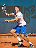 September 03, 2014,Netherlands, Alphen aan den Rijn, TEAN International, Victor Hanescu (ROU)<br /> Photo: Tennisimages/Henk Koster