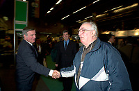 Montreal, march 28 , 2001 File Photo<br />  Montreal Mayor ;Pierre Bourque at the opening of Americana 2001 conference and trade show on environmental technologies and waste management march 28, 2001 in Montreal, CANADA.<br /> <br /> Bourque is currentlyrunning for reelection against former Quebec Minister Gerald Tremblay<br /> <br /> Photo by Pierre Roussel / Alpha-Presse<br /> NOTE :  D-1 Uncorrected JPEG opened with QUIMAGE profile, saved in Adobe 1998 RGB color space