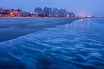 A foggy dawn on Revere Beach, Revere, Massachusetts, USA