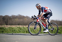 Jasper Stuyven (BEL/Trek-Segafredo) atop the Holstraat<br /> <br /> 76th Dwars door Vlaanderen 2021 (MEN1.UWT)<br /> 1 day race from Roeselare to Waregem (184km)<br /> <br /> ©kramon