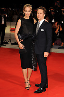U.S. actor Sam Rockwell, right, poses with his fiancee, actress Leslie Bibb, on the red carpet for the premiere of the movie 'Three Billboards Outside Ebbing, Missouri' at the 74th Venice Film Festival, Venice Lido, September 4, 2017. <br /> UPDATE IMAGES PRESS/Marilla Sicilia<br /> <br /> *** ONLY FRANCE AND GERMANY SALES ***