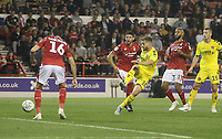 Fleetwood Town's Conor McAleny sees his shot goa wide<br /> <br /> Photographer Mick Walker/CameraSport<br /> <br /> The Carabao Cup First Round - Nottingham Forest v Fleetwood Town - Tuesday 13th August 2019 - The City Ground - Nottingham<br />  <br /> World Copyright © 2019 CameraSport. All rights reserved. 43 Linden Ave. Countesthorpe. Leicester. England. LE8 5PG - Tel: +44 (0) 116 277 4147 - admin@camerasport.com - www.camerasport.com