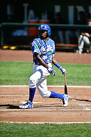 Ibandel Isabel (54) of the Ogden Raptors at bat against the Helena Brewers in Pioneer League action at Lindquist Field on July 16, 2016 in Ogden, Utah. Ogden defeated Helena 5-4. (Stephen Smith/Four Seam Images)