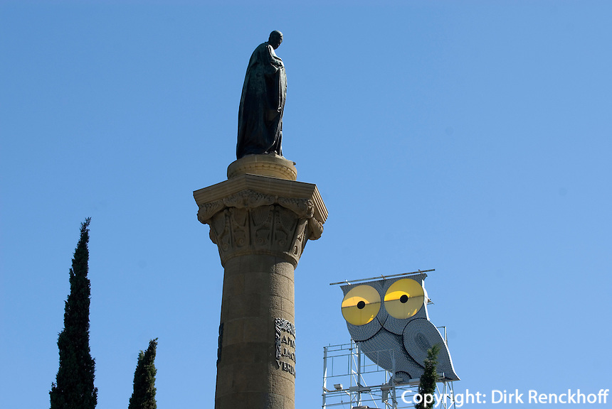 Placa Mossen Jacint Verdaguer, Barcelona, Spanien