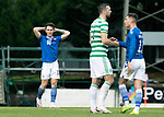 St Johnstone v Celtic…04.10.20   McDiarmid Park  SPFL<br />Danny McNamara reacts at full time<br />Picture by Graeme Hart.<br />Copyright Perthshire Picture Agency<br />Tel: 01738 623350  Mobile: 07990 594431
