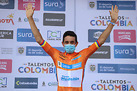 YOPAL - COLOMBIA, 16-04-2021. Oscar Sevilla ganador del prólogo y líder de la Vuelta a Colombia 2021 que se corrió por las calles de la ciudad de Yopal, Casanare hoy 16 de abril de 2021. La carrera cuenta con el prólogo y 9 etapas con un recorrido total de  1.190,2 Kms y pasará por 7 departamentos. / Oscar Sevilla winner of the prologue and leader of the Vuelta a Colombia 2021 that ran through the streets of the city of Yopal, Casanares today April 16, 2021. The race has the prologue and 9 stages with a total route of 1,190.2 Kms and will pass through 7 departments. Photo: VizzorImage / Fedeciclismo / CONT