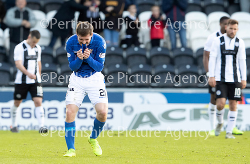 St Mirren v St Johnstone…19.10.19   St Mirren Park   SPFL<br />Anthony Ralston shows his frustration as saints go 2-0 down to St Mirren<br />Picture by Graeme Hart.<br />Copyright Perthshire Picture Agency<br />Tel: 01738 623350  Mobile: 07990 594431