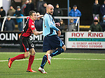 Forfar Athletic v St Johnstone....08.02.14   Scottish Cup 5th Round<br /> James Dunne fires in the fourth goal<br /> Picture by Graeme Hart.<br /> Copyright Perthshire Picture Agency<br /> Tel: 01738 623350  Mobile: 07990 594431