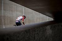 Rémy Mertz (BEL/Lotto Soudal) pre race.  <br /> <br /> Binckbank Tour 2018 (UCI World Tour)<br /> Stage 6: Riemst (BE) - Sittard-Geleen (NL) 182,2km