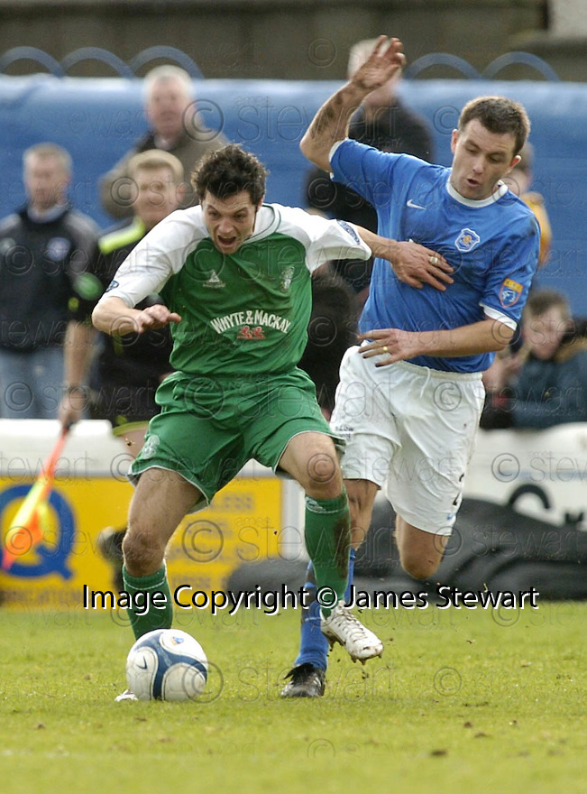24/02/2007       Copyright Pic: James Stewart.File Name : sct_jspa07_qots_v_hibernian.ERIC PATON CHALLENGES  IVAN SPROULE.....James Stewart Photo Agency 19 Carronlea Drive, Falkirk. FK2 8DN      Vat Reg No. 607 6932 25.Office     : +44 (0)1324 570906     .Mobile   : +44 (0)7721 416997.Fax         : +44 (0)1324 570906.E-mail  :  jim@jspa.co.uk.If you require further information then contact Jim Stewart on any of the numbers above.........