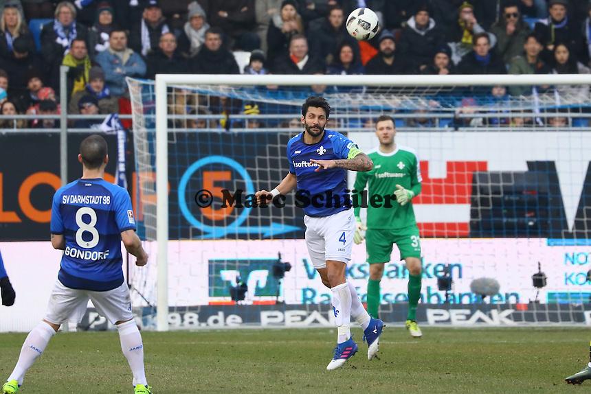 Aytac Sulu (SV Darmstadt 98)- 11.02.2017: SV Darmstadt 98 vs. Borussia Dortmund, Johnny Heimes Stadion am Boellenfalltor