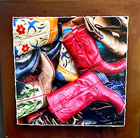 Barrel of Boots - Mixed Media - Colorado<br />