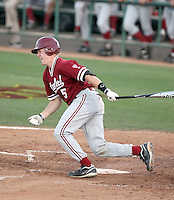 Zach Jones #5 of the Stanford Cardinal plays against the Arizona State Sun Devils on April 29, 2011 at Packard Stadium, Arizona State University, in Tempe, Arizona. .Photo by:  Bill Mitchell/Four Seam Images.