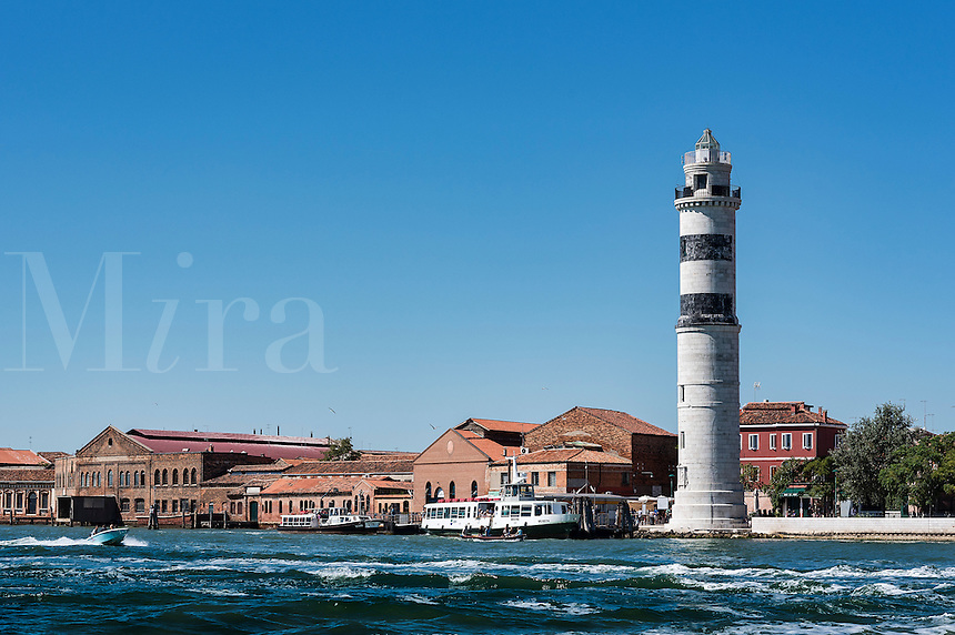 Lighthouse and glass furnaces, Murano, Venice, Italy