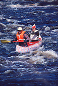 White water canoeing on the Michigamme River in the Upper Peninsula of Michigan.