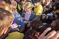 vegegnte Mirjana Dragicevic Soldo after apparition of the Virgin Mary on Nov 2nd, 2011