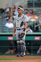 Tampa Yankees catcher Gary Sanchez (35) during a game against the Jupiter Hammerheads on July 17, 2013 at Roger Dean Stadium in Jupiter, Florida.  Jupiter defeated Tampa 4-3.  (Mike Janes/Four Seam Images)