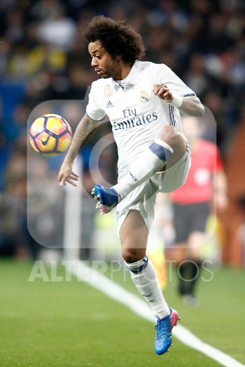 Real Madrid's Marcelo Vieira during La Liga match. March 1,2017. (ALTERPHOTOS/Acero)
