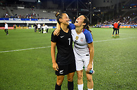 Cincinnati, OH - Tuesday September 19, 2017: Ali Riley, Kelley O'Hara during an International friendly match between the women's National teams of the United States (USA) and New Zealand (NZL) at Nippert Stadium.