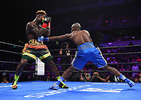ONTARIO, CA - DECEMBER 21: Tony Harrison v Jermell Charlo fight for the WBC World Super Welterweight Championship on the Fox Sports PBC Fight Night at Toyota Arena on December 21, 2019 in Ontario, California. (Photo by Frank Micelotta/Fox Sports/PictureGroup)