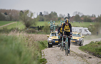 Lars Boom (NED/LottoNL-Jumbo) during the 2017 Paris-Roubaix recon, 3 days prior to the event.