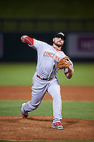 Peoria Javelinas pitcher Barrett Astin (35), of the Cincinnati Reds organization, during a game against the Salt River Rafters on October 11, 2016 at Salt River Fields at Talking Stick in Scottsdale, Arizona.  The game ended in a 7-7 tie after eleven innings.  (Mike Janes/Four Seam Images)