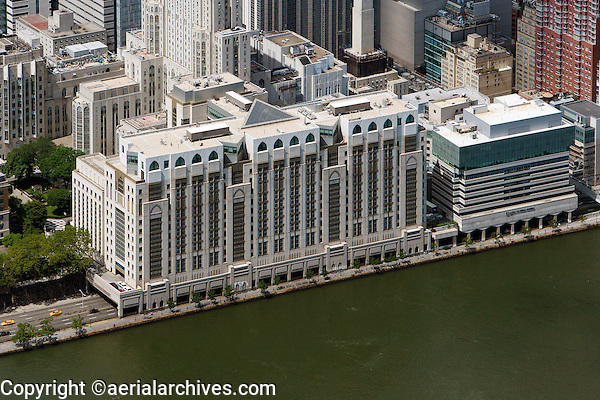 aerial photograph Hospital for Special Surgery, Manhattan, New York City