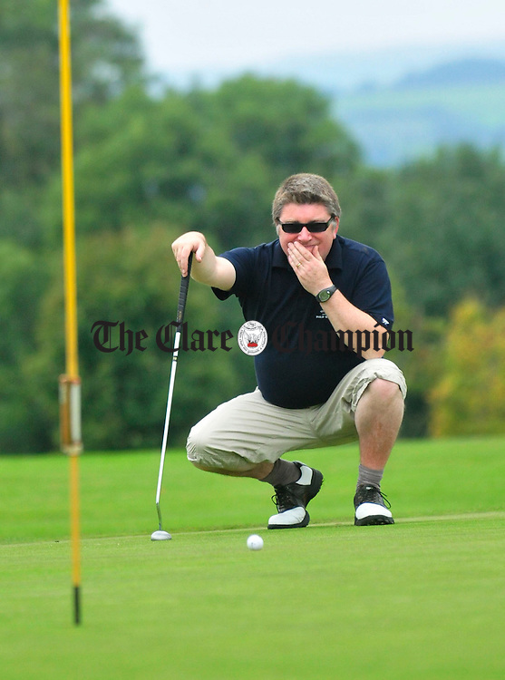 Pat Shortt takes part in the Brendan Grace Golf Classic. Photograph by Declan Monaghan
