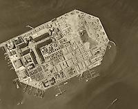 historical aerial photograph Treasure Island, San Francisco, California, 1946